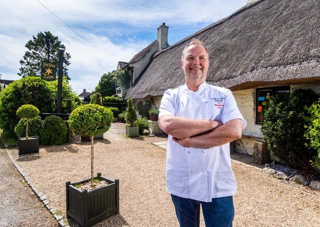 Michelin-starred chef Andrew Pern, of The Star Inn at Harome  is celebrating 25 years since he took over the Star Inn, in North Yorkshire..Picture James Hardisty.