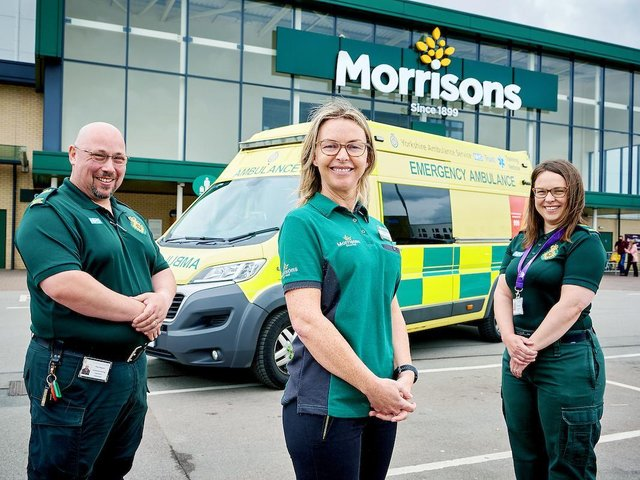 Morrisons is helping the Yorkshire Ambulance Service NHS Trust