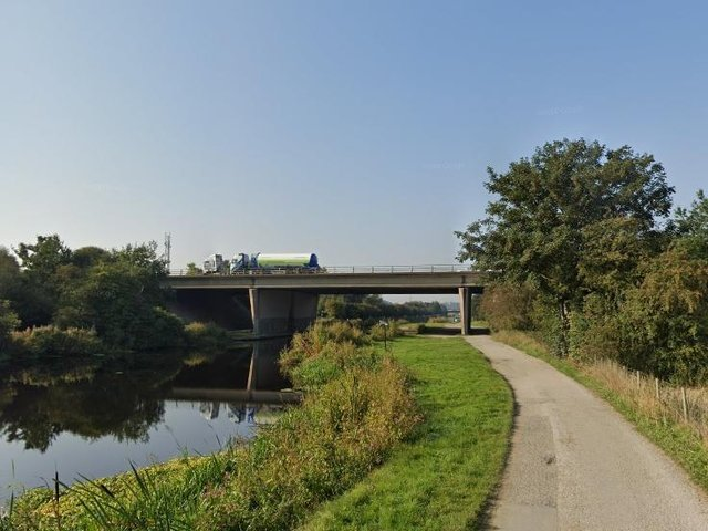 Repair work on a busy M62 bridge has been completed, just hours after a fault was identified in the structure. Pictured is the bridge over the River Calder. Photo: Google Maps