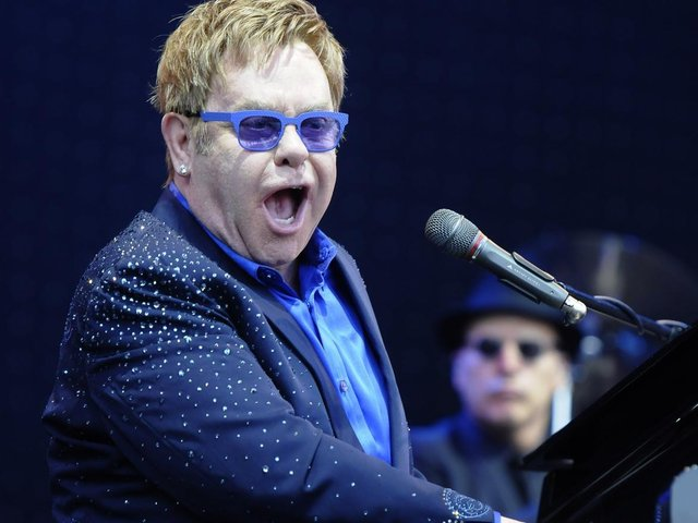 Elton John live in concert at Leigh Sports Village. Picture: Neil Cross.