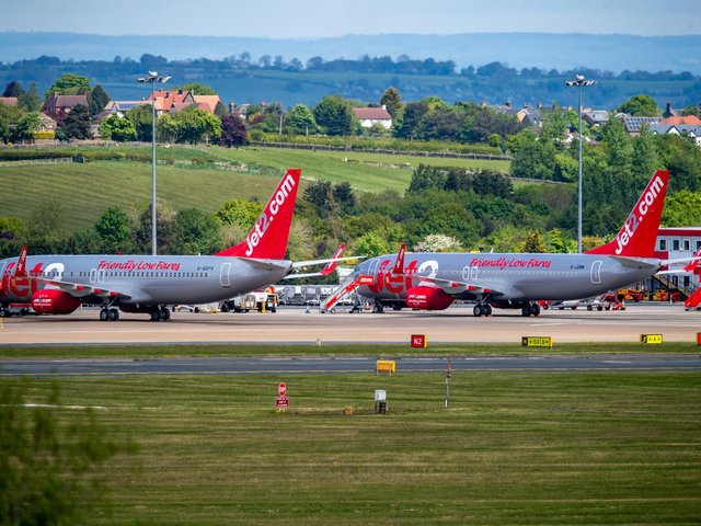 Travellers hoping to visit Ibiza, Majorca or Mallorca must now show either proof of two vaccinations or a negative PCR test taken with the last 48 hours on landing. Pictured: Leeds Bradford Airport