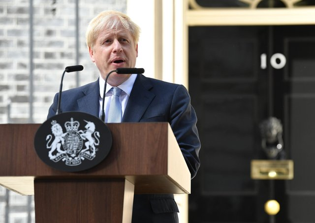 Boris johnson highlighted education and levelling up on the day that he became Prime Minister.