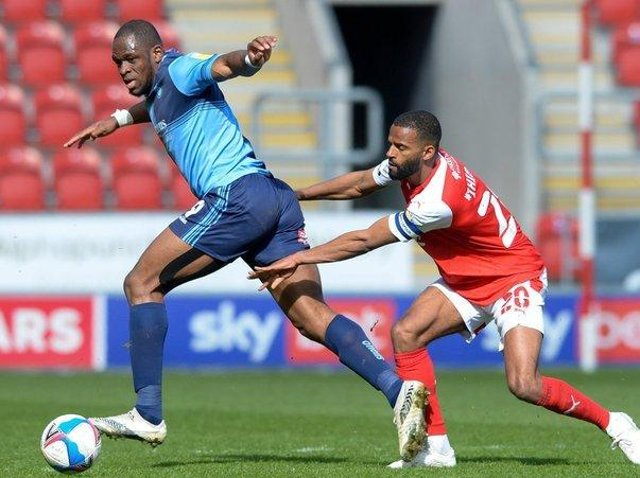 New Middlesbrough signing Uche Ikpeazu, pictured in action from Wycombe against Rotherham last season. Picture: Dean Atkins.