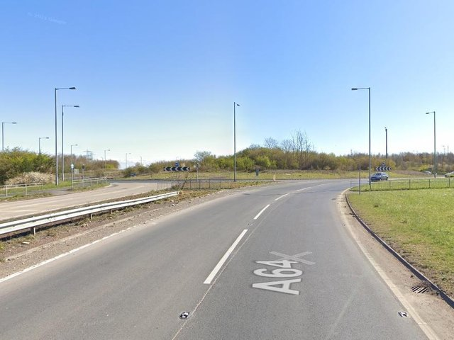 It happened at the Bramham Crossroads on the A64.