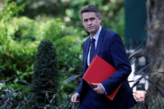 Education Secretary Gavin Williamson arrives in Downing Street in central London on May 1, 2020 (Photo by TOLGA AKMEN/AFP via Getty Images)