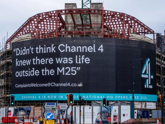 Channel 4's national headquarters in Leeds city centre when it was under construction
