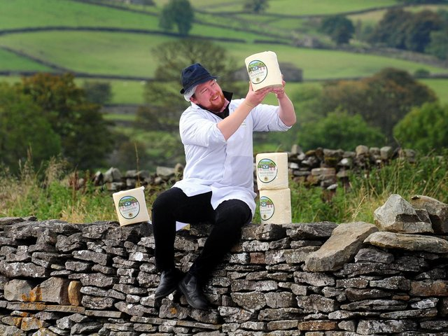 Library image of cheese maker Richard Cloughton at the Yorkshire Dales Cheese Festival. .Picture by Simon Hulme
