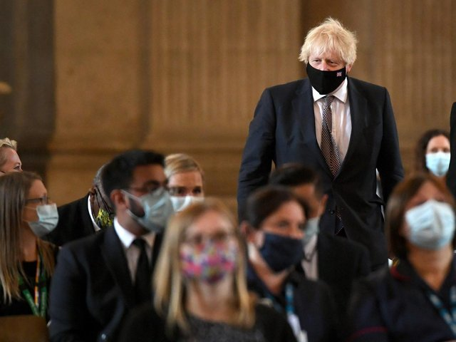 Prime Minister Boris Johnson arrives for the NHS service of commemoration and thanksgiving to mark the 73rd birthday of the NHS at St Paul's Cathedral, London. Picture: Stefan Rousseau/PA Wire