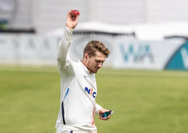 TOP MAN: Yorkshire's Dom Bess leaves the field at the end of the Northamptonshire innings having taken 7-43 runs on day two at The County Ground. Picture: Andy Kearns/Getty Images