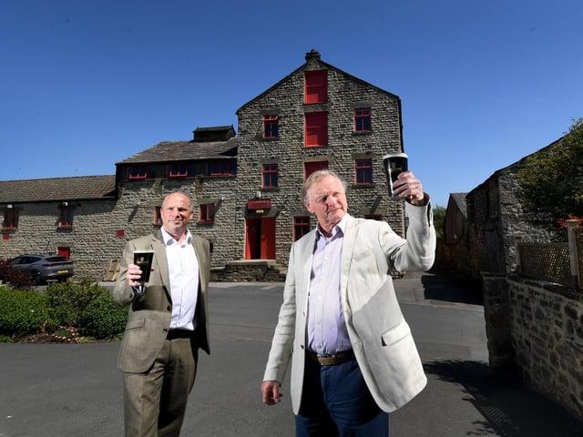 L-R Richard Bradbury and Simon Theakston outside the brewery.  Pics by Simon Hulme