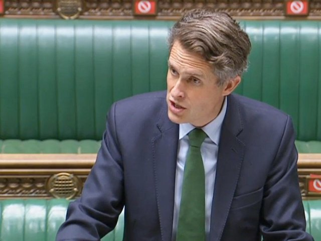 Education Secretary Gavin Williamson speaking to MPs in the House of Commons in London on easing coronavirus restrictions in education settings. Picture: House of Commons/PA Wire