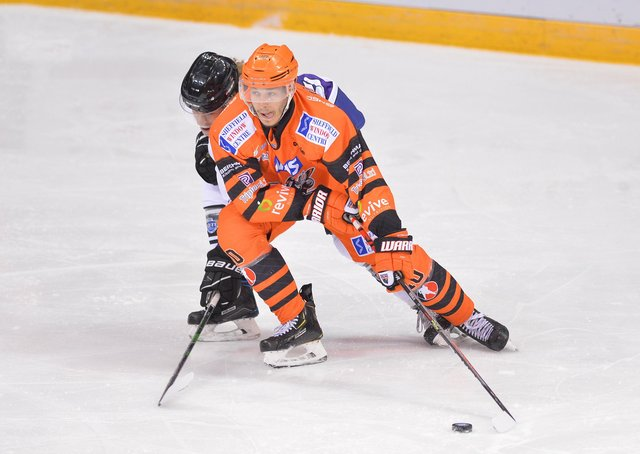 Tanner Eberle proved a hit for Sheffield Steelers in the Elite Series. Picture courtesy of Dean Woolley