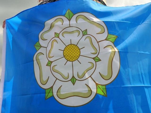 Yorkshire flag.