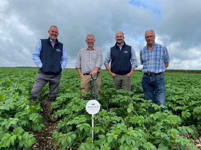 seed investment: Graham Bennett, seed director of Wolds Produce and seed managers Stuart Fox, Andrew Johnston and Bill Quarrie.