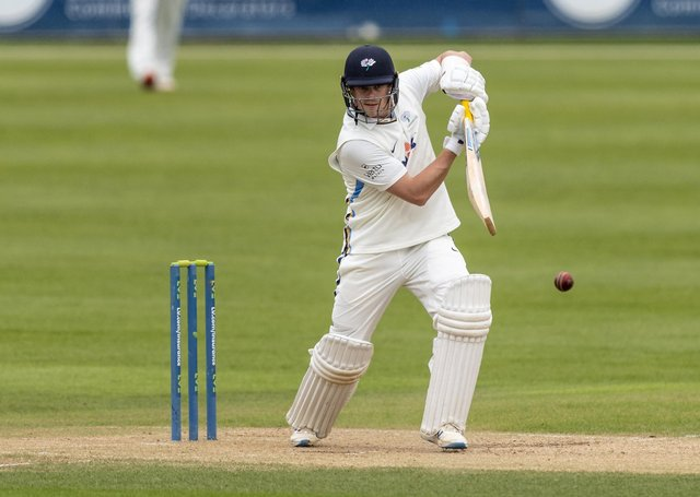 Sam Northeast of Yorkshire drives during day one of the LV= Insurance County Championship match between Northamptonshire and Yorkshire at The County Ground (Picture: Andy Kearns/Getty Images)