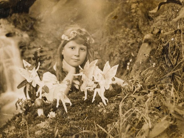 'Frances and the Fairy Ring' taken by Elsie Wright in 1917, part of the Cottingley Fairies hoax. Photo credit: Marc Tielemans/Dominic Winter Auctioneers/PA Wire.