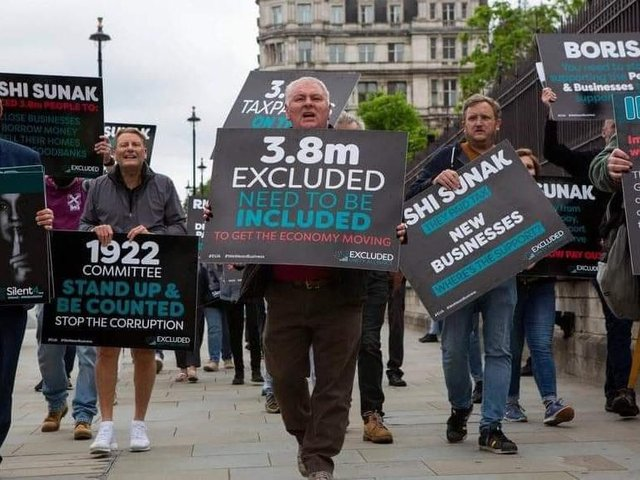 The Excluded Unity Alliance held a lobbying event in London. Picture: Excluded Unity Alliance