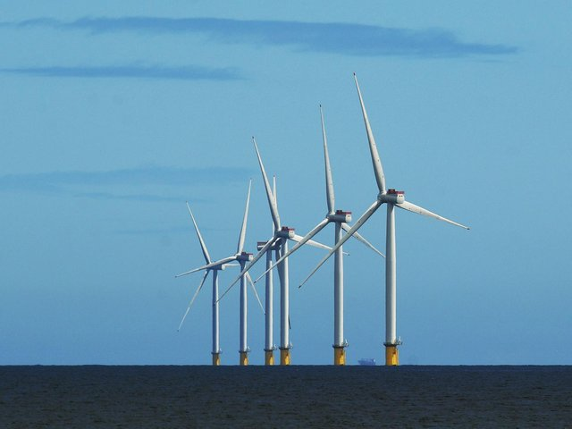 An off-shore wind farm in Withernsea. Picture: Jonathan Gawthorpe.