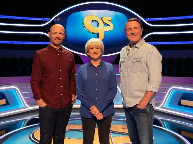 Sue Barker with Matt Dawson (left) and Phil Tufnell (right) have all left the show