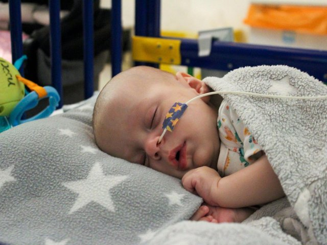 """Baby Markuss, who became one of the first patients in England to receive the """"world's most expensive drug"""""""