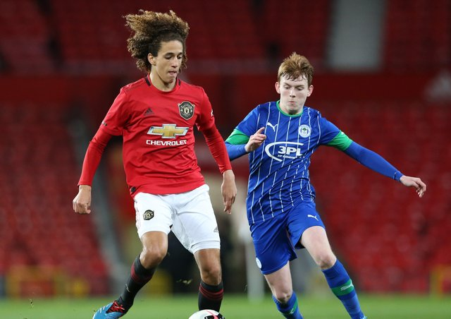 INCOMING: Sean McGurk, in action for Wigan Athletic during an FA Youth Cup: Sixth Round match against Manchester United at Old Trafford, has signed for Leeds United. Picture: Charlotte Tattersall/Getty Images