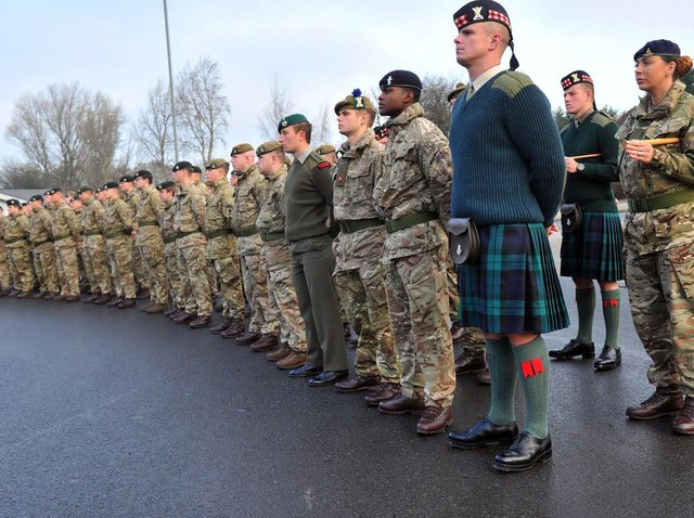 Soliders from Catterick Garrison. Picture: Gary Longbottom.