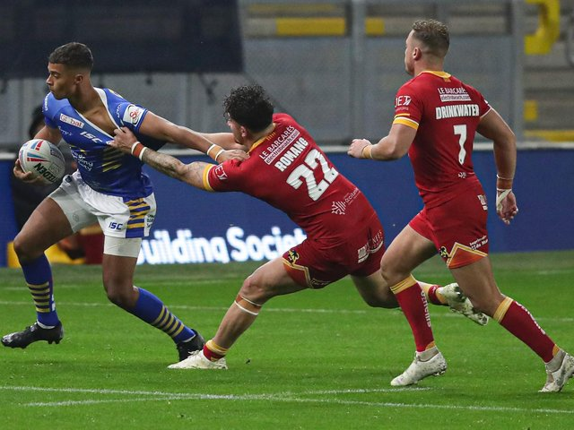 Leeds Rhinos' Corey Hall in action against Catalans Dragons last week. (PAUL CURRIE/SWPIX)