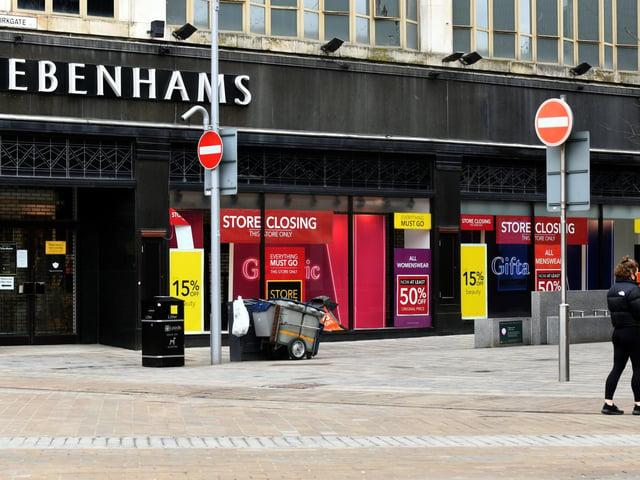 The Debenhams store in Leeds city centre