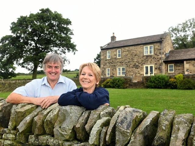 John Key with his wife Fiona at their farm near Stocksbridge