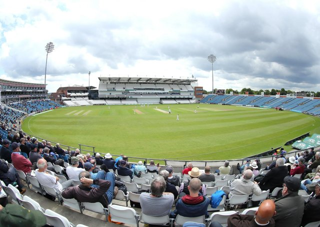 STAND EASY: Fans watch Yorkshire take on Hampshire at Headingley. Picture by Ash Allen/SWpix.com