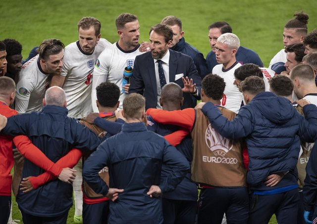 Final challenge: Gareth Southgate's message to his England players during this summer's European Championship has been to stay calm and stick to their gameplan, qualities they will need tomorrow against Italy at Wembley.Picture: getty images