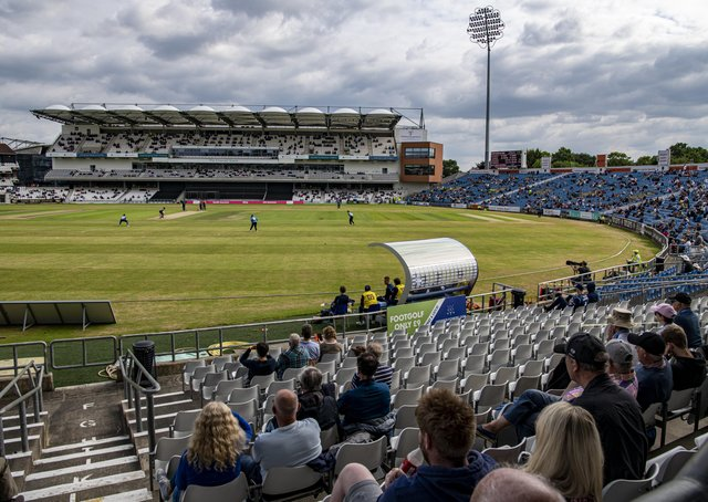 Yorkshire cricket supporters back in the ground at Headingley Stadium for a T20 match (Picture: Tony Johnson)