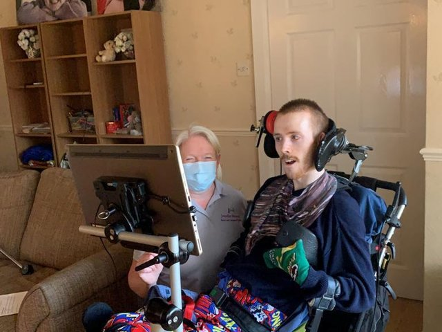 Richie Cottingham, 26, cried tears of joy when he heard his new accent for the first time and sounded like his family and friends from Howden. (Pic: SWNS)
