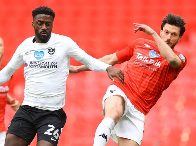 Jody Hiwula, left, in action for Portsmouth. Pictures: Getty Images