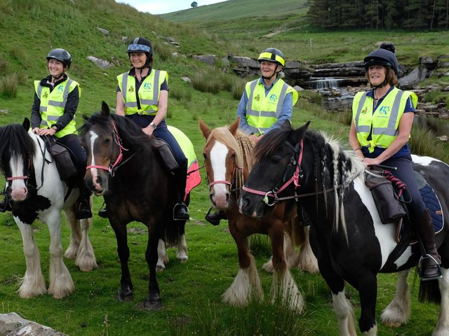The riders from left, Lucy Pickford, Hilary Fawcett, Marie Wray and Alison Muir