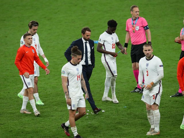 DISAPPOINTMENT: A dejected Gareth Southgate at full-time