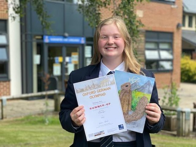 Anastasia Bell, a Ripon Grammar School student, has received national recognition for showcasing and celebrating the German language. Photo credit: Submitted picture