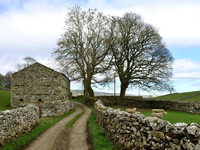 A traditional stone barn near Askrigg