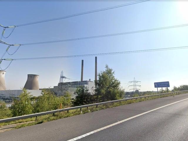 The M62 at Ferrybridge (photo: Google).
