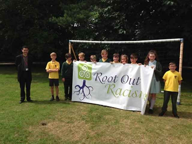 MP Alex Sobel and year 6 pupils at St Joseph's Primary School at Otley.