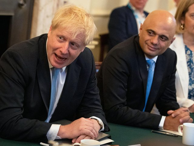 Boris Johnson and Sajid Javid pictured in 2019. Picture: Aaron Chown/PA Wire