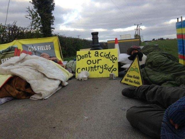 A protest at the site in 2019