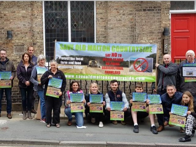 Locals protest against Harmony Energy's plans for the solar farm near Old Malton