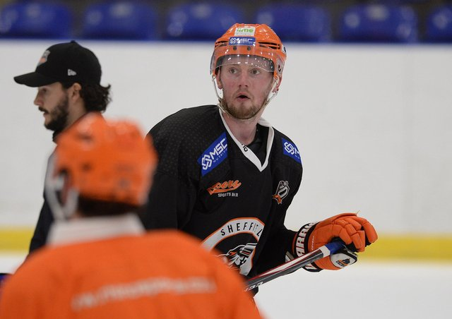 BACK FOR MORE: Defenceman Davey Phillips is back for a sixth season with Sheffield Steelers. Picture: Dean Woolley.