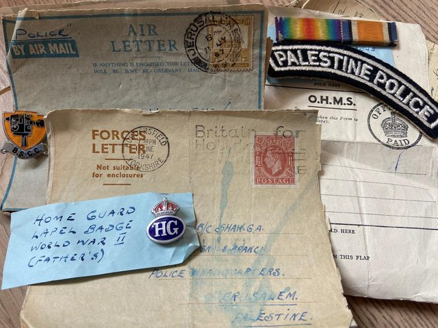 Geoffrey's call-up papers, medical notes and telegrams home to his parents in Huddersfield were all contained in the time capsule