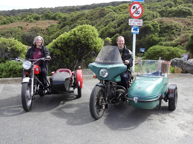 Ted and Heather were well known among the motorcycle community and had travelled all over the world on their bikes