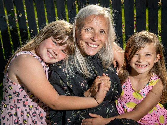 Helen Davy's daughters Annalise and Kairen are only eight and six