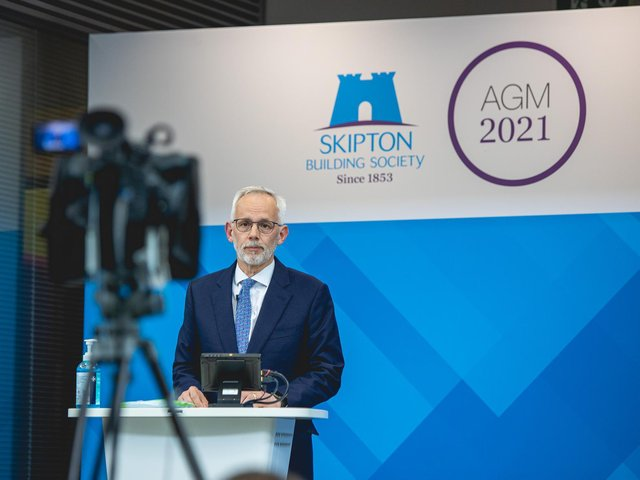 Library image of Skipton Building Society's first live streamed AGM