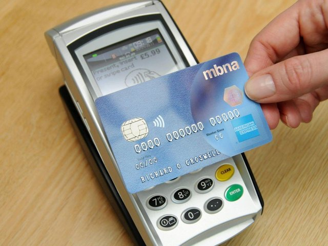 Contactless card transactions more than tripled in April.