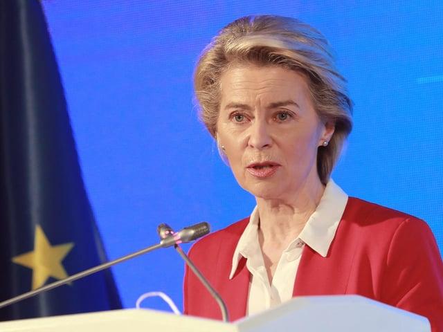 EU Commission President Ursula Von der Leyen. Photo by ADEM ALTAN/AFP via Getty Images.